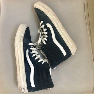 Vans navy suede lace up high top sneakers 7.5